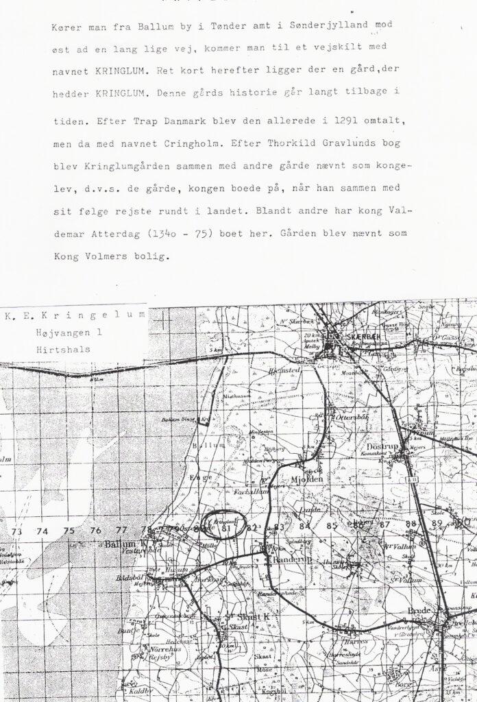 Kort der viser hvor Kringlum og Ballum byerne ligger.